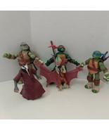 Teenage Mutant Ninja Turtle Figurine Lot Of 5 Playmates Viacom 2012-2014 - $20.89