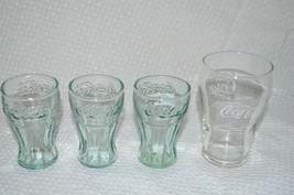 4 MINIATURE COCA COLA COKE GLASSES ANTIQUE COLLECTIBLE - $14.83