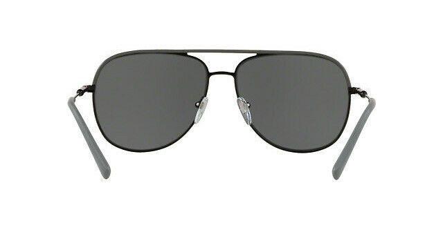 Bvlgari BV5047Q 128/87 Black Metal Frame Grey Lens Pilot Sunglasses 59mm