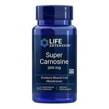 Life Extension Super Carnosine 500mg 60 Caps L-Carnosine/Luteolin/Benfotamine - $25.87