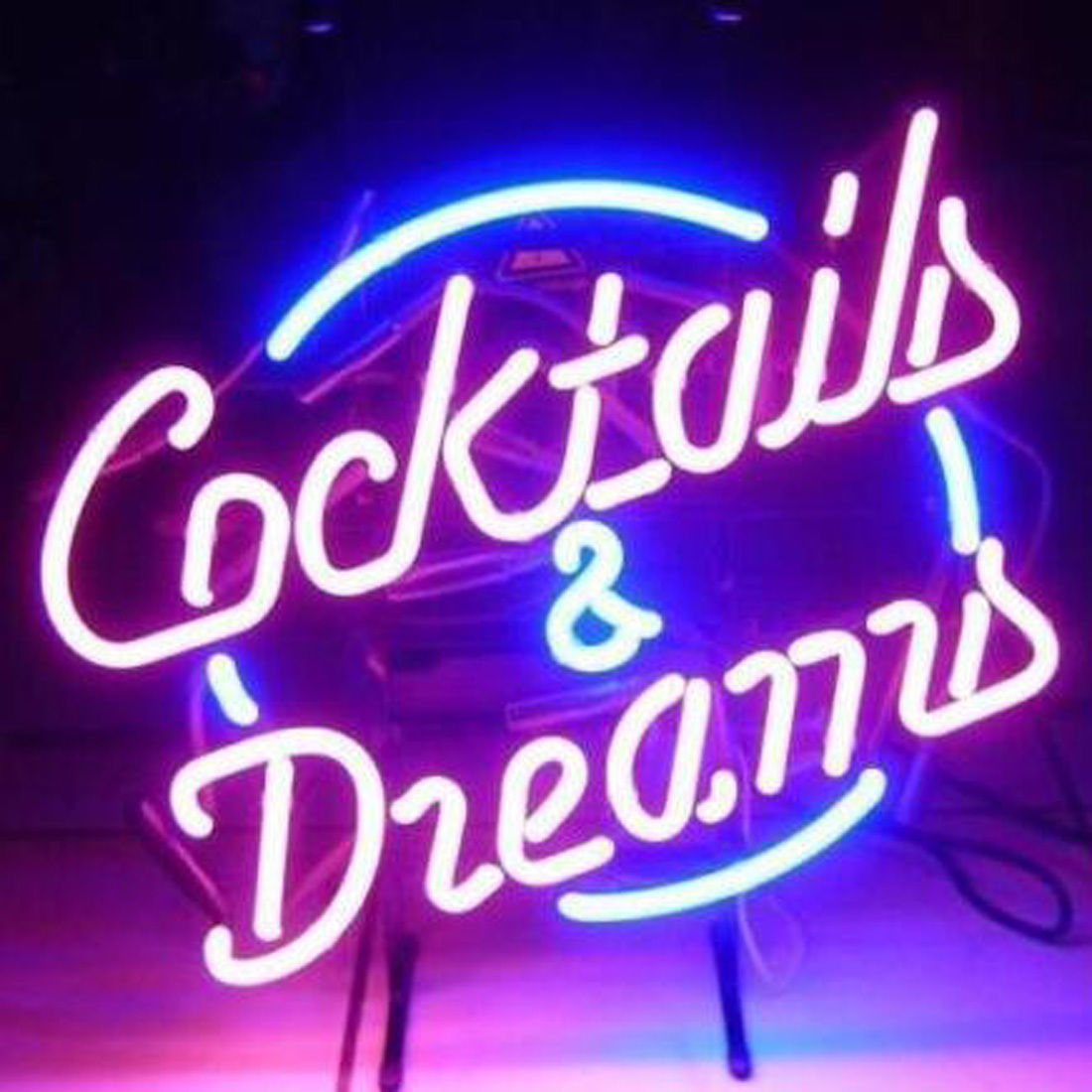 """New Cocktails And Dreams Bar Pub Lamp Light BEER Neon Sign 24""""x20"""""""