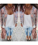 - Trendy Finejo  Retro Ethnic Floral Print Embroidered Jacket Thin Padde... - $25.60