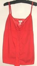 Women's New Red Button Down Tank Size 10 Ann Taylor Loft - $8.00