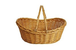 Wald Imports 1002-LG 19.5 in. Honey Finish Willow Basket - $39.59