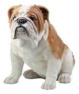 "Ebros Large Lifelike Realistic English Bulldog Statue 14.5"" Tall Fine Pe... - $128.68"