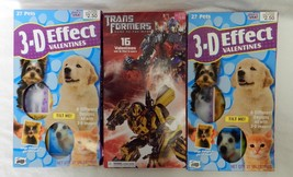 Valentine Cards Mello Smello Greetings 3D Pets Transformers Erasers Lot of 3 New - $10.64