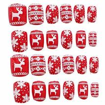 24 Pcs Fashion Nails Stickers Beautiful Nail Decorations False Nails Tips [J]
