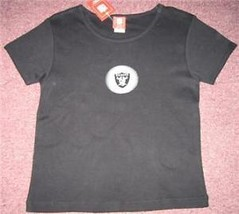 NEW OAKLAND RAIDERS LADIES T SHIRT S SMALL NFL TOP NWT - $13.09
