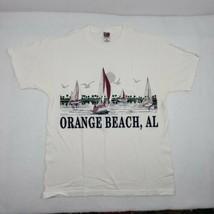 Medium Vintage Orange Beach Alabama Sailing Beach T Shirt Size Large Sou... - $6.97