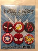 "Superhero Button Pin Set ""I Need a Hero"" Corpse Cutie - $6.99"