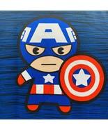 Marvel Chibi Captain America Mens S Blue Activewear T-shirt Avengers - $14.99