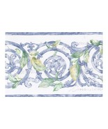 Blue White Stone Molding Leaves 40816070 Wallpaper Border - $19.90