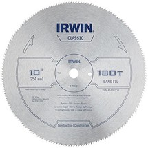 IRWIN 10-Inch Miter Saw Blade Classic Series Steel Table 11870 - $16.22