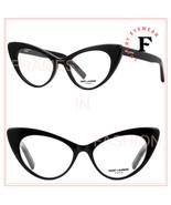 SAINT LAURENT 217 YSL SL217 Black Retro Cat Eyeglasses Optical Frame 53m... - $200.48