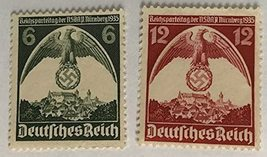 1935 Nuremberg Rally Set of 2 Germany Postage Stamps Catalog Number 465-66 MNH