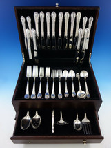 Modern Victorian by Lunt Sterling Silver Flatware Service for 8 Set 63 p... - $3,795.00