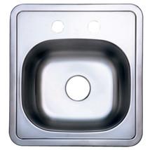 Gourmetier Studio GKTS1515 Self-Rimming Single Bowl Bar Sink, Satin Nickel - $37.03