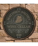 Beauteous Barrel Personalized Wine Cellar Sign (2 Designs) - $49.95