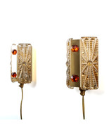 BRASS SCONCES (pair) by Vitrika, 1970s. Danish Modern brass and glass wa... - $279.00