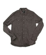 GUESS Los Angeles California Mens Sz L Brown Western Snap Button Front L... - $22.76