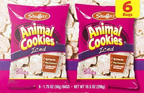 Primary image for Stauffer's Iced Animal Cookies 6 Count Box (3 Boxes)
