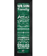 "Personalized Dallas Stars ""Family Cheer"" 24 x 8 Framed Print - $39.95"