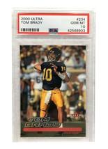 2000 Fleer Ultra Tom Brady Rookie Card Gem Mint PSA 10 RC #234 Patriots ... - $5,850.00
