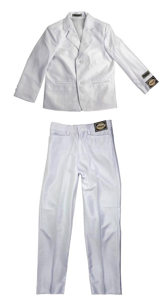 NEW DOMINI BOY'S KIDS JUNIORS 2 PIECE WESTERN STYLE WEDDING BAPTISM SUIT WHITE