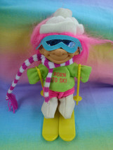 Russ Berrie & Co Born To Ski Troll Fushia Hair with Outfit & Skis - as is - $5.89