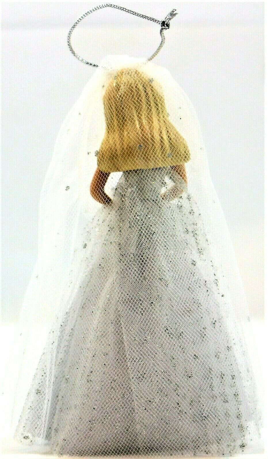 Barbie Millennium Bride Porcelain Ornament 2000 Avon Mattel