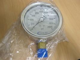 "CHEM OIL 4"" PRESSURE GAUGE 210L-4020 LIQUID FILLED new image 1"