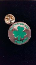 shamrock emerald isle Lapel Pin Badge / tie pin. in gift box enamel finish
