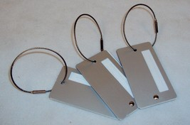 Luggage Tags ~ CASE LOT 25 UNITS ~ Aluminum w/Braided Cable Latch ~ LT100 - $39.20