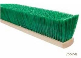 "24"" Stiff Green Polypropylene Garage Brush Push Broom Replacement Head - $45.95"