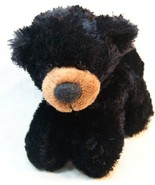 "Aurora SOFT BLACK TEDDY BEAR 6"" Plush STUFFED ANIMAL Toy - $14.85"