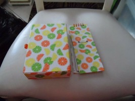 Lemon and lime notebook and pencil box - $6.95