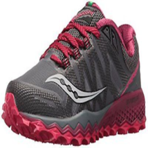 Saucony Womens Peregrine 7 Trail-Runners Grey/Berry 7 - $50.79