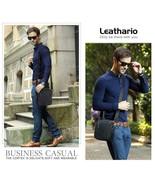 Leathario Sac Homme à Bandoulière Cuir Authentique Mode Elégant Negro-695 - $234.59