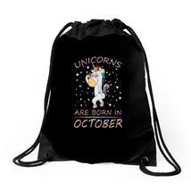 Unicorns Are Born In October Drawstring Bags - $34.00
