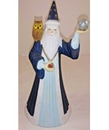 "Merlin Wizard w Owl San Francisco Music Box Company Crystal Ball 8"" - $24.74"