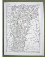 VERMONT Map Counties  Railroad Lines - 1878 Lithograph Print Color - $10.84
