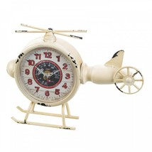 White Helicopter Desk Clock - $20.99