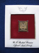 1983 US Postal Service Official USPS Replica FDC 22kt Gold Golden Cover ... - $6.92