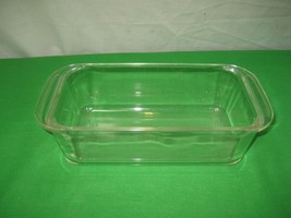 Vintage Pyrex Ovenware Clear Glass Bread Pan Meat Loaf Baking Dish 213 H... - $9.46