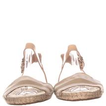 Coach Reena Ankle Strap Flat Espadrilles Sandals 143, Beige/White, 8 US - $29.75