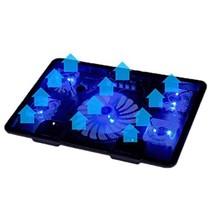 Laptop Cooler Cooling Pad 5 Fan 2 USB Base LED Notebook Cooler Computer Fan - €33,23 EUR