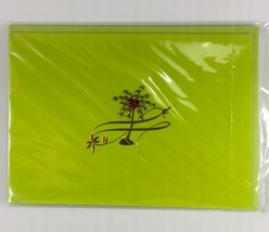 Burgoyne Handmade Greeting - Palm Tree Blank Note Card - NEW  - $3.95