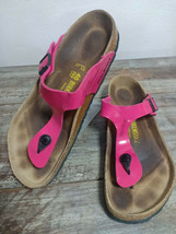Used BIRKENSTOCK Gizeh Thong Women Sandals Shoes Sz 40 L9 M7 Pink Summer  - $24.70