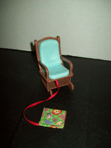 Fisher Price Loving Family Rocking Chair W/ Story Book Nursery Dollhouse... - $15.83
