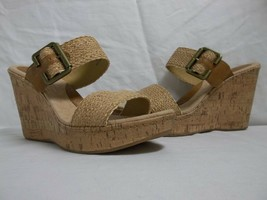 Born Size 10 M Taria Tan Slides Wedges Sandals New Womens Shoes NWOB - $53.51